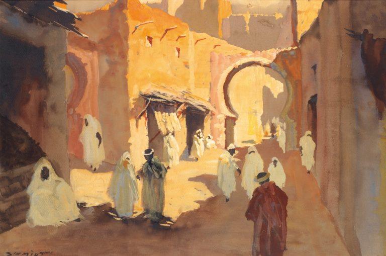 Rue animeé à Marrakech, de Albert H. Schmidt