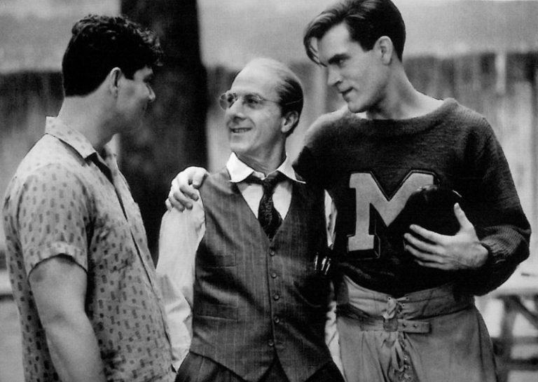 Stephen Lang, Dustin Hoffman y John Malkovich en Muerte de un viajante (1985)