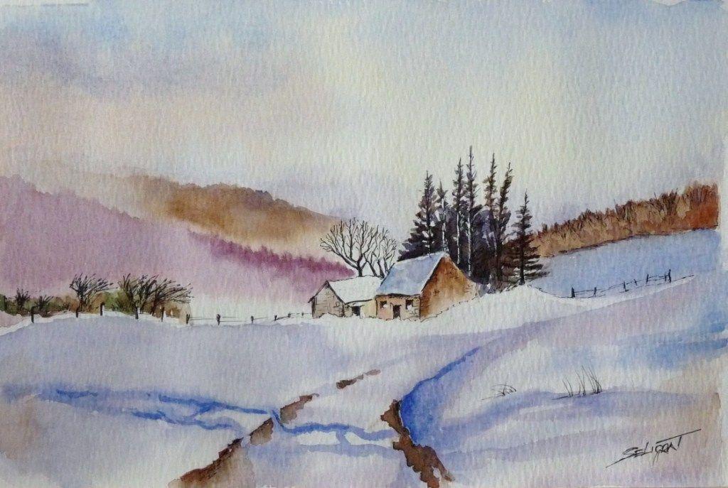 casita en invierno