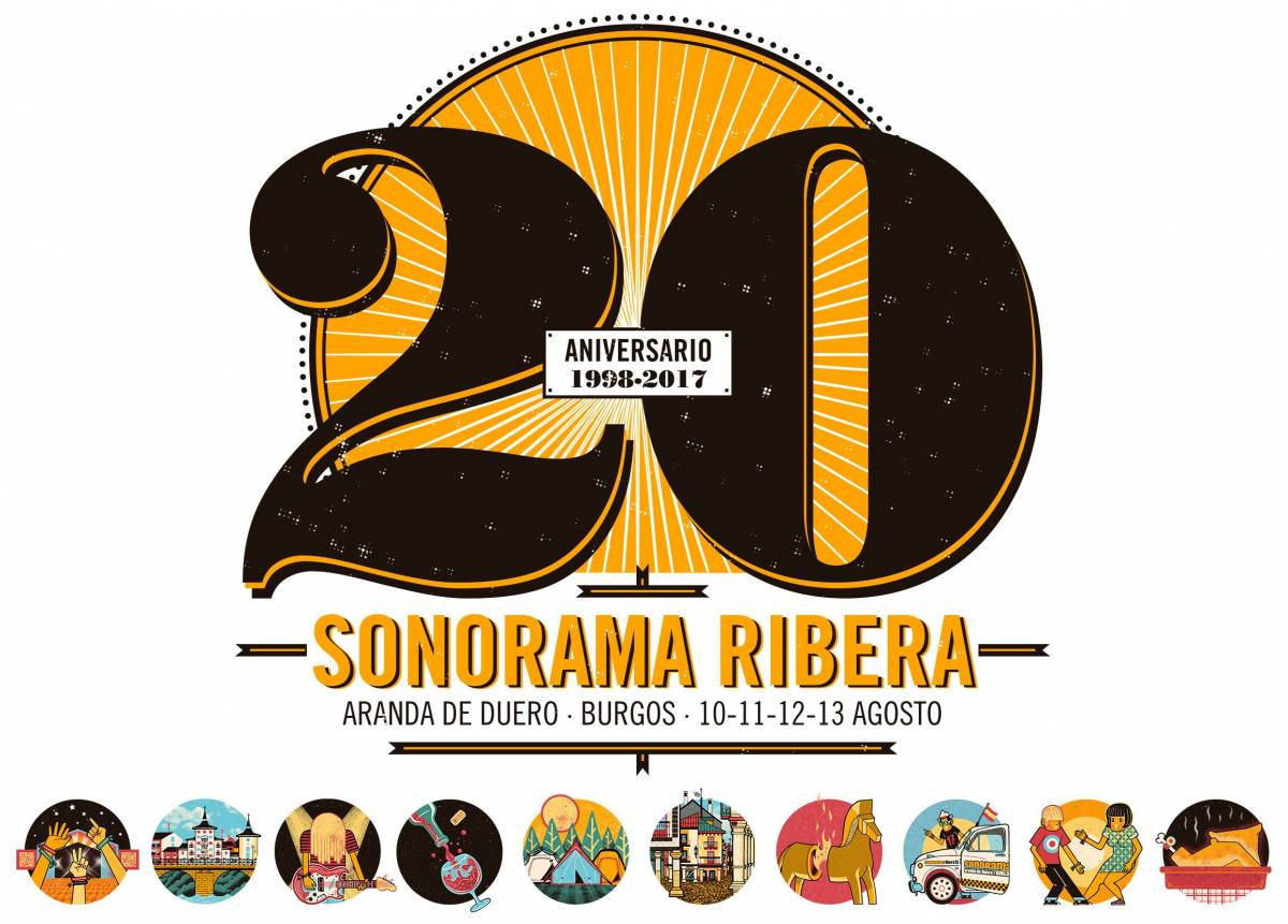 Logo del 20º Aniversario Sonorama 2017