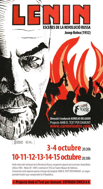 Cartel obra Lenin