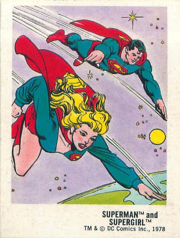 Supergirl y Superman en 1978