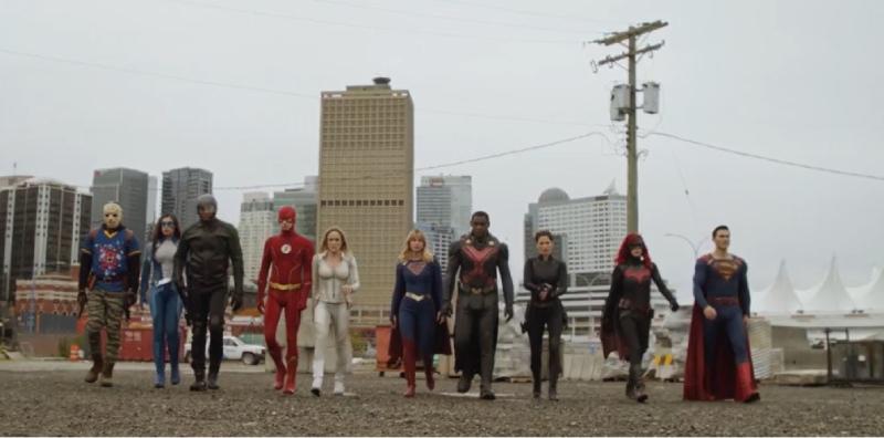 Escena del crossover Crisis on Infinite Earth