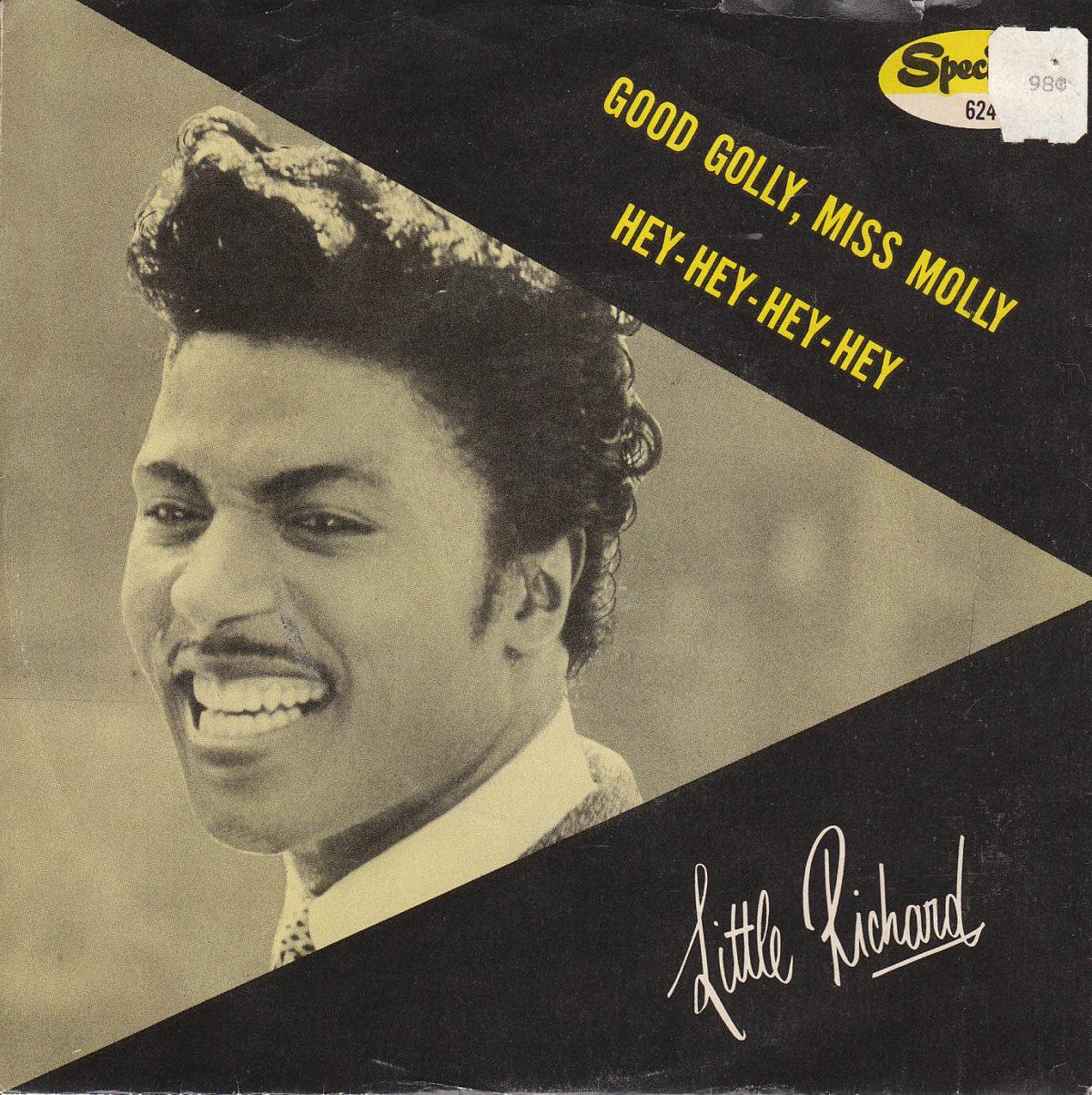 El músico Little Richard en la portada de un vinilo